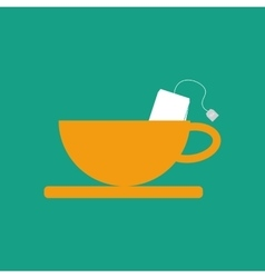 Cup and tea bag vector
