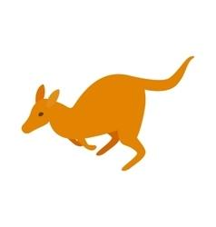 Australian kangaroo icon isometric 3d style vector