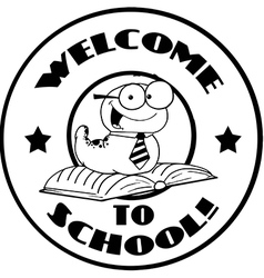 Back to school logo cartoon vector image