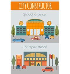 Big set City generator House constructor House vector image