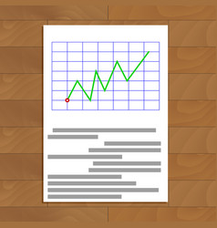 Business document on table vector