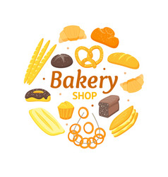 cartoon color bakery banner card vector image