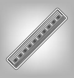 Centimeter ruler sign pencil sketch vector