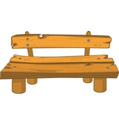 Classic garden bench vector image vector image
