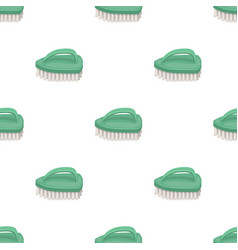Cleaning brush icon in cartoon style isolated on vector