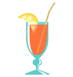 cocktail flat style vector image