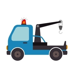 Crane car truck design isolated vector