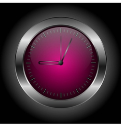 Dark red stylish clock vector