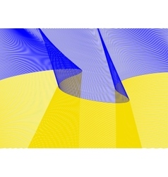 Festive flag banner with beautiful fluttering vector