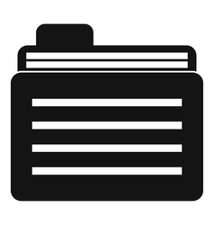 File folder icon simple style vector