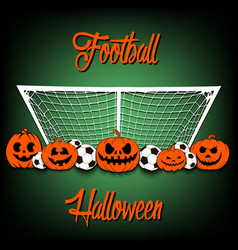 Football and Halloween vector image