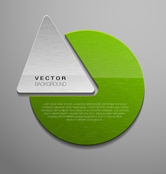 green shape vector image vector image