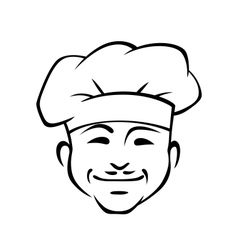 Happy smiling chef with a little moustache vector image