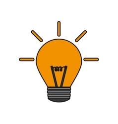 Isolated yellow light bulb design vector