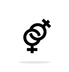 Lesbian icon on white background vector image vector image