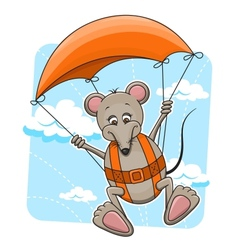 Mouse with parachute vector image vector image