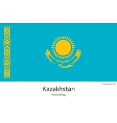 National flag of Kazakhstan with correct vector image