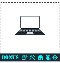 Notebook icon flat vector
