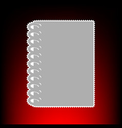 notebook simple vector image