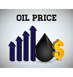 Oil price design vector image