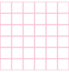 Pink white grid chess board background vector