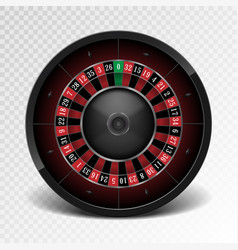 realistic black casino roulette wheel isolated on vector image vector image