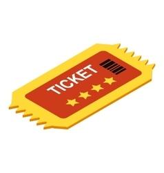 Ticket isometric 3d icon vector