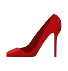woman red heel vector image vector image