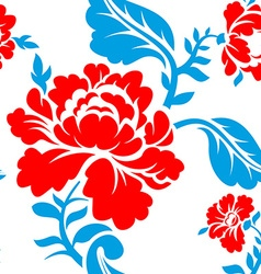 Russian national flower pattern colors of russia vector