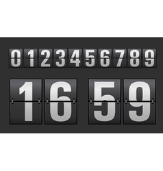 Plastic digits set vector