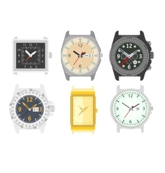Watches set stylish accessory for men vector