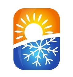 Air conditioning emblem vector image
