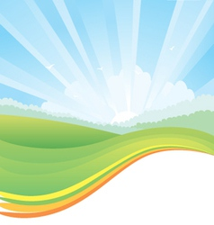 Nature landscape with sunlight vector image