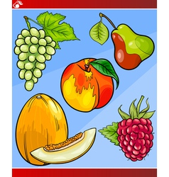 Fruits set cartoon vector
