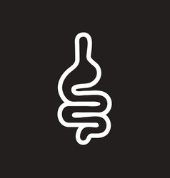 stylish black and white icon human intestine vector image