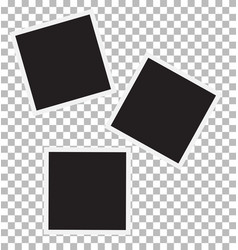 Three blank retro photo frames vector