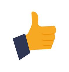 Thumb up like symbol vector