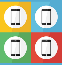 Touch screen smart phone icon flat design vector
