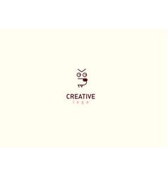 Modern cheerful logo muzzle of a dog vector