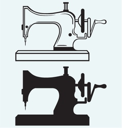 Antique sewing machine vector