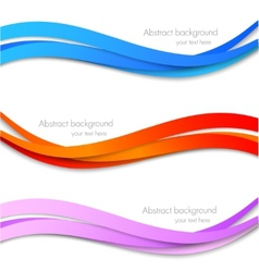 Set of striped banners vector