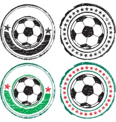 Soccer ball stamps vector