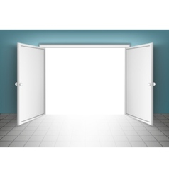 Open Doors Isolated vector image