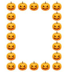 Halloween photo frame vector