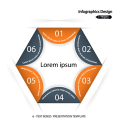 Modern presentation template vector