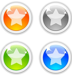 Favorite buttons vector