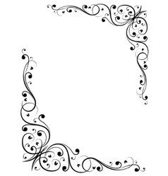 simple abstract floral bw pattern vector image
