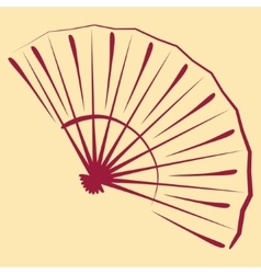 Sketched folding fan vector