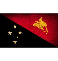 Flags papua new guinea with dirty paper texture vector