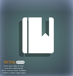 Book bookmark icon symbol on the blue-green vector